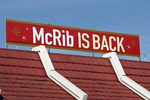 McDonald's Brings Back The McRib Sandwich