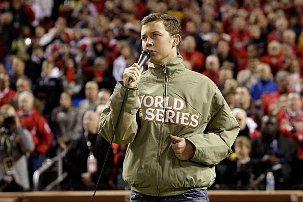 Scotty McCreery Sings National Anthem at Worlds Series
