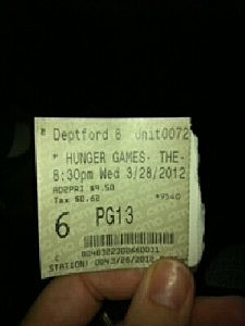 Hunger Games Ticket