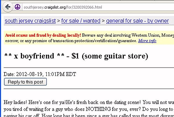 Funny Craigslist Dating Ads Dating Low Key