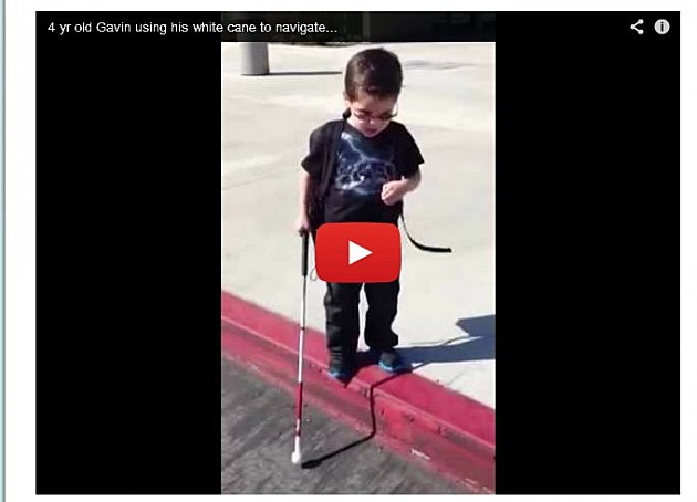 Blind 4 Year Old