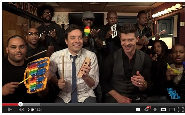 Jimmy Fallon Robin Thicke