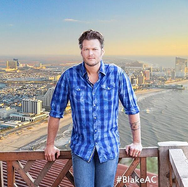 Blake Shelton on the Beach in Atlantic City