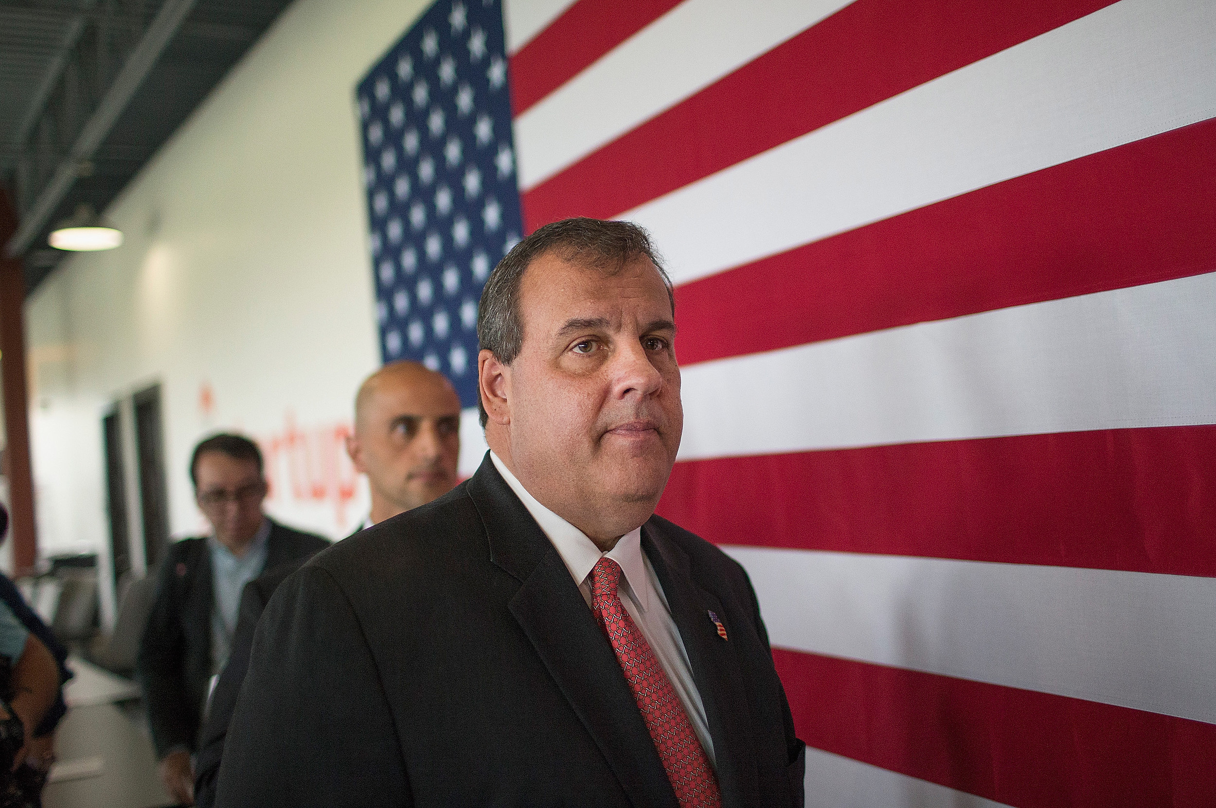 NJ Governor Chris Christie Speaks At A Startup Accelerator In Iowa