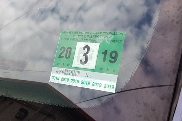 NJ Car Inspection Sticker - Photo: Chris Coleman